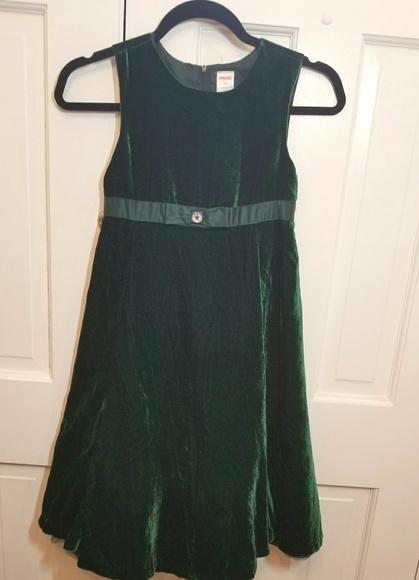 37d8eded168b7 Gymboree Dresses | Emerald Green Velvet Dress | Poshmark